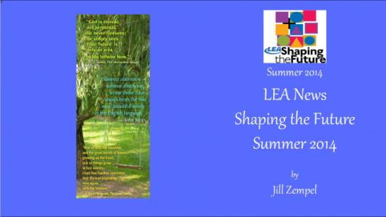 LEA News Shaping the Future Summer 2014