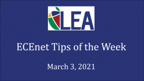ECEnet Tips of the Week - March 3, 2021