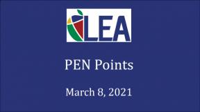 PEN Points - March 8, 2021