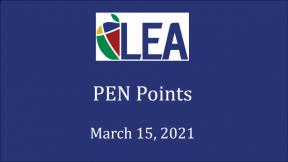 PEN Points - March 15, 2021