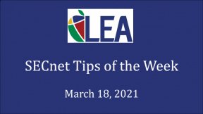 SECnet Tips of the Week - March 18, 2021