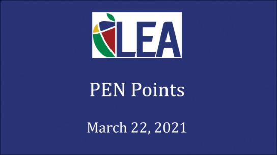 PEN Points - March 22, 2021