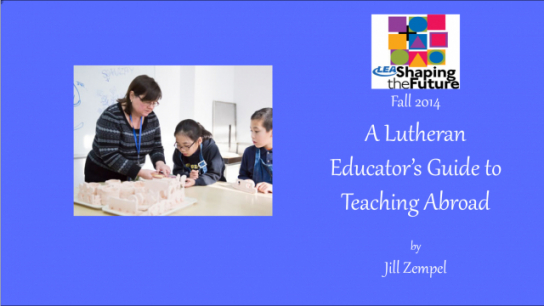 A Lutheran Educator's Guide to Teaching Abroad