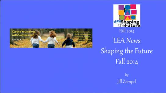 LEA News Shaping the Future Fall 2014