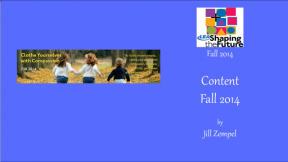 Content Fall 2014