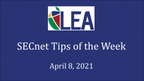 SECnet Tips of the Week - April 8, 2021