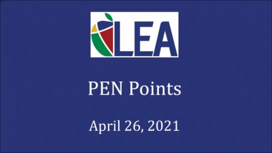 PEN Points - April 26, 2021