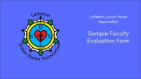 Sample Faculty Evaluation Form