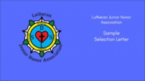 Sample Selection Letter