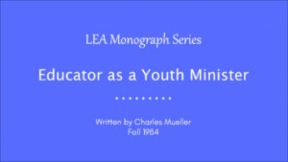 Educator as a Youth Minister