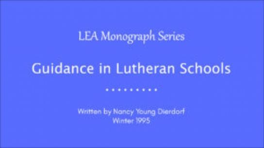 Guidance in Lutheran Schools