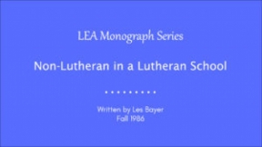 Non-Lutheran in a Lutheran School