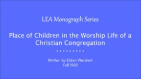Place of Children in the Worship Life of a Christian Congregation