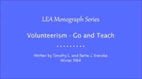 Volunteerism - Go and Teach