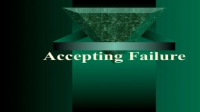 Accepting Failure: Teacher Leadership Skills to Students