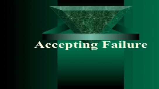 Accepting Failure: Teacher Leadership Skills to Students