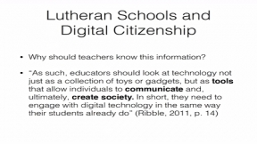 Digital Citizenship & Faith Integration