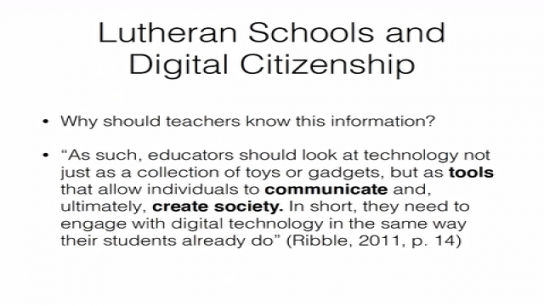 Digital Citizenship & Faith Integration