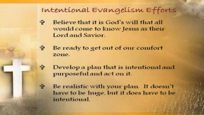 Intentional Evangelism in Early Childhood Centers