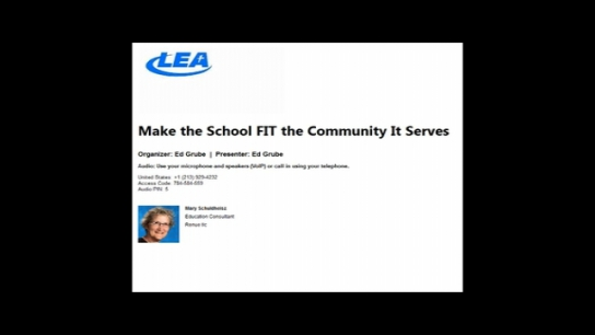 Make the School FIT the Community It Serves