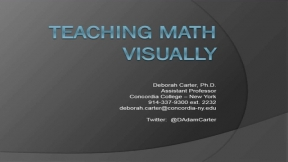 Teaching Math Visually