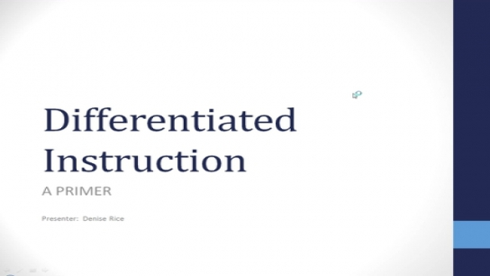 Differentiated Instruction Primer