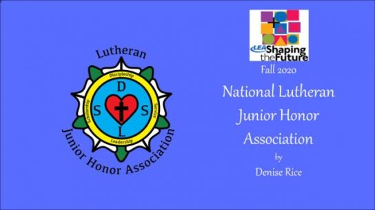 New Lutheran Junior Honor Association