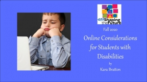 Online Considerations for Students with Disabilities