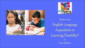 English Language Acquisition or Learning Disability?