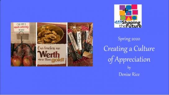 Creating a Culture of Appreciation