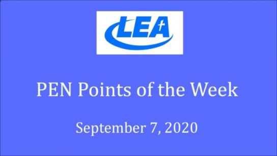 PEN Points of the Week - September 7, 2020
