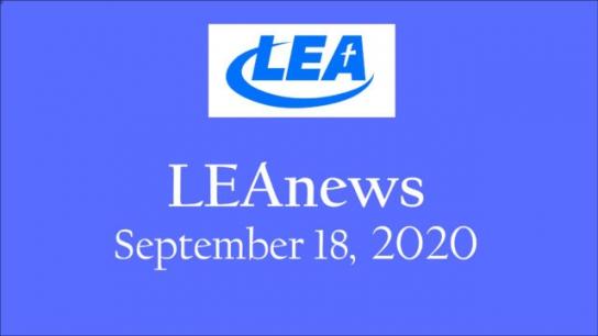 LEA News - September 18, 2020