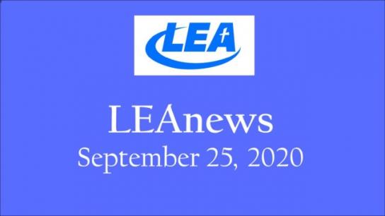 LEA News - September 25, 2020