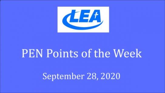 PEN Points of the Week - September 28, 2020