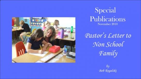 Pastor's Letter to Non School Family