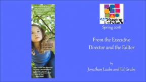 From the Executive Director and the Editor