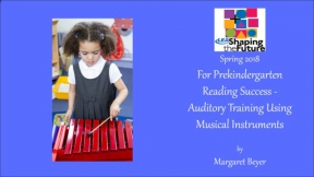 For Prekindergarten Reading Success - Auditory Training Using Musical Instruments