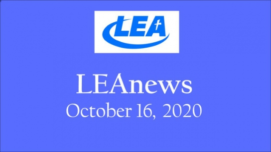 LEA News - October 16, 2020
