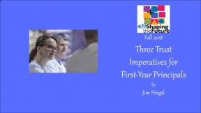Three Trust Imperatives for First-Year Principals