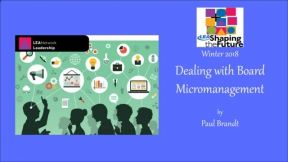Dealing with Board Micromanagement