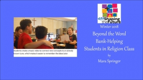 Beyond the Word Bank-Helping Students in Religion Class