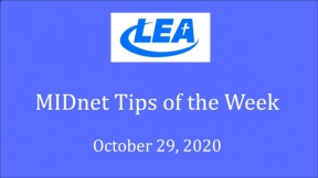 MIDnet Tips of the Week - October 29, 2020