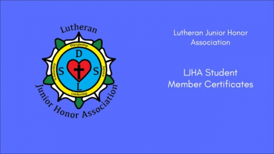 LJHA Student Member Certificate
