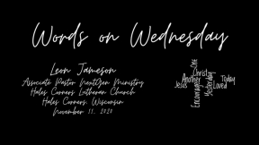Words on Wednesday - November 11, 2020