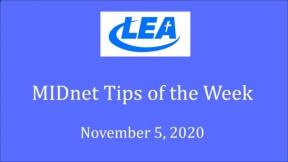 MIDnet Tips of the Week - November 5, 2020