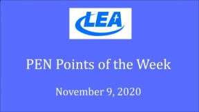 PEN Points of the Week - November 9, 2020