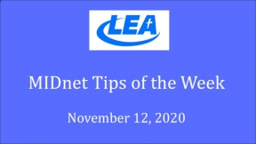 MIDnet Tips of the Week - November 12, 2020