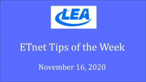 ETnet Tips of the Week - November 16, 2020