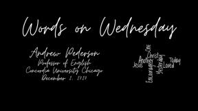 Words on Wednesday - December 2, 2020