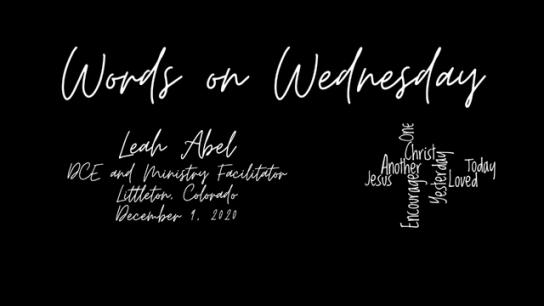 Words on Wednesday - December 9, 2020